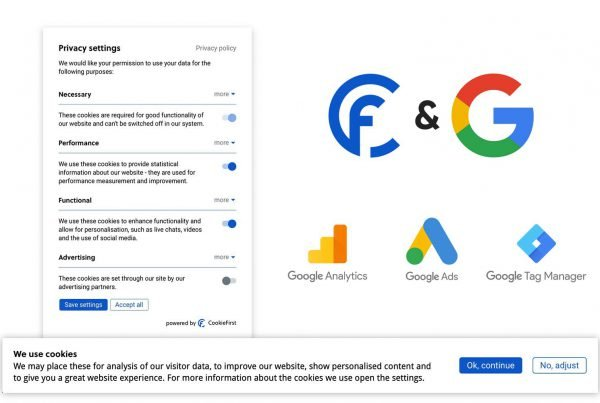 Google Consent Mode integrates with the CookieFirst CMP