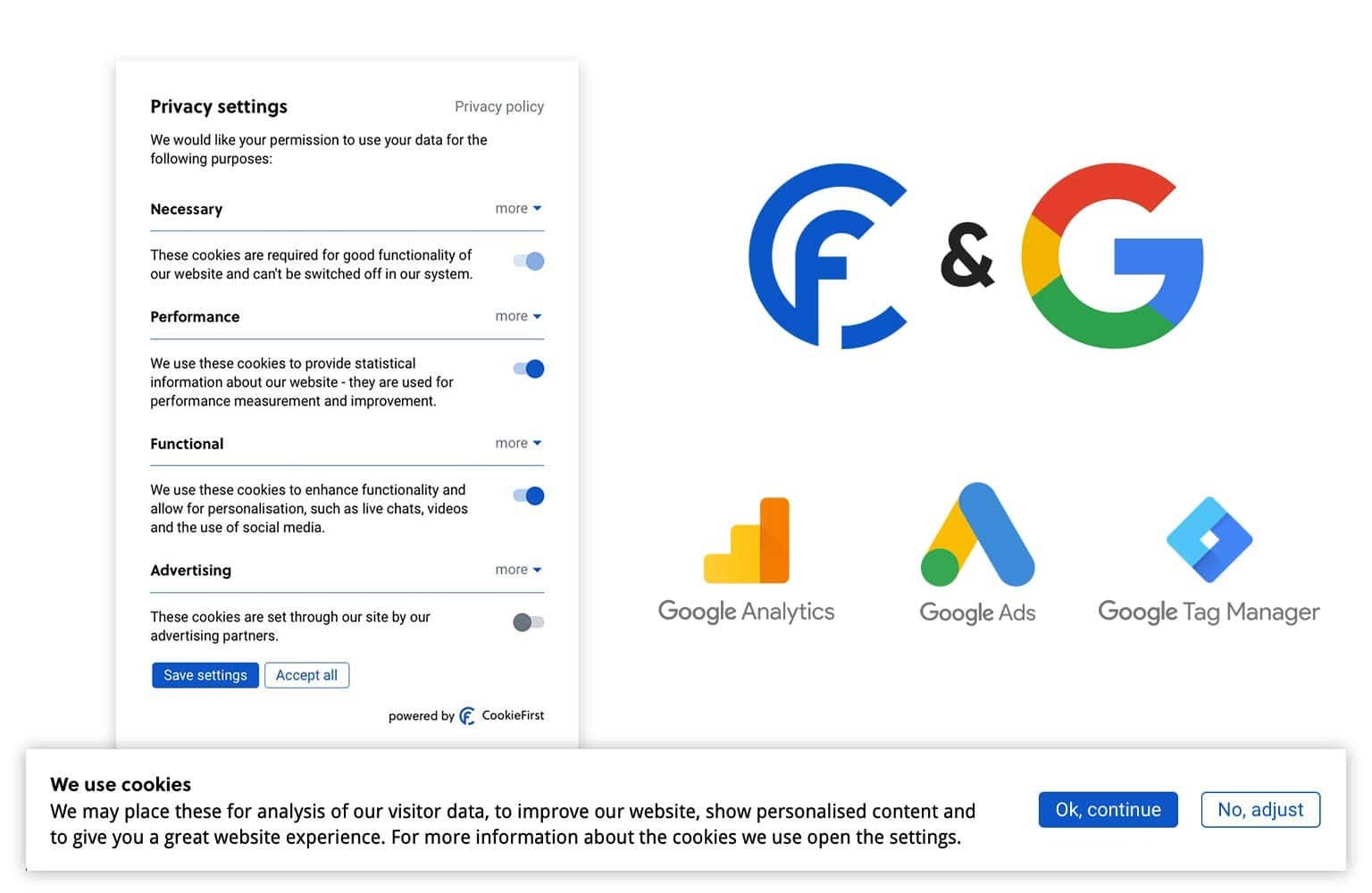 Google Consent Mode se integra con el CMP de CookieFirst